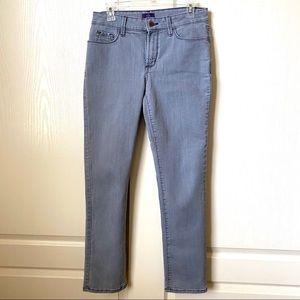 NYDJ Gray Skinny Jeans Size 8